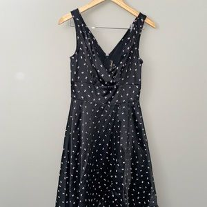 NWT Stop Staring Swing Dress Black and Pink Bows